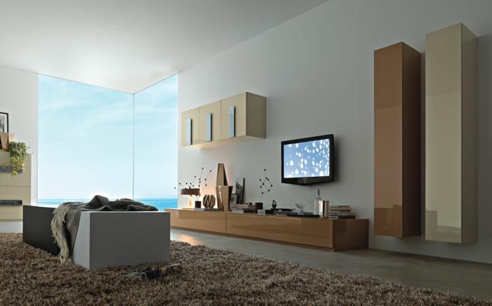 wandschrank-für-wohnzimmer-ein-fernseher-an-der-wand