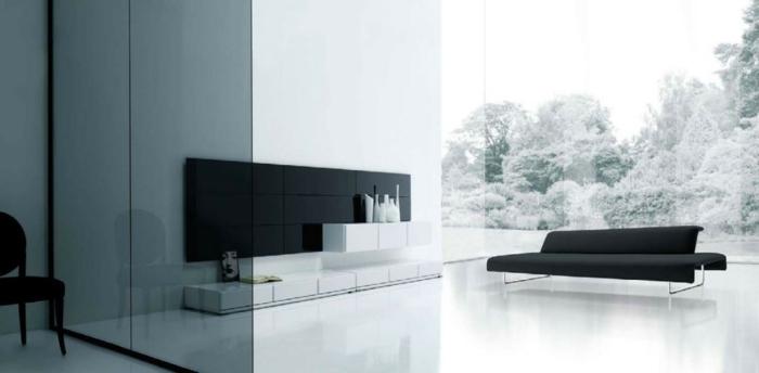 Wandschrank Für Wohnzimmer Große Gläserne Wände