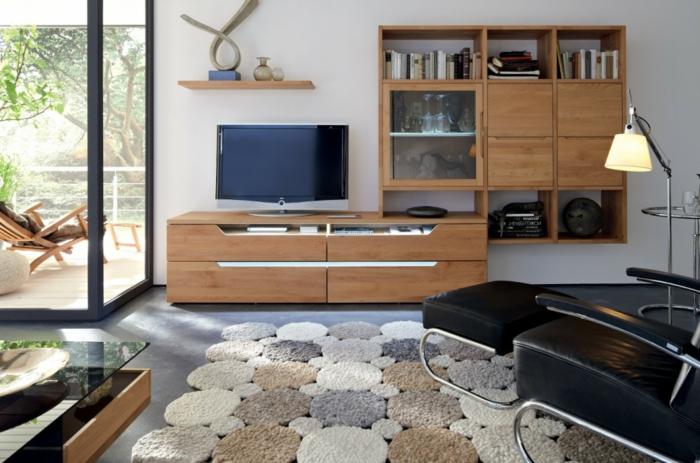 wandschrank-für-wohnzimmer-hölzerne-gestaltung