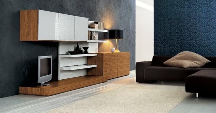 wandschrank-für-wohnzimmer-luxuriöses-ambiente