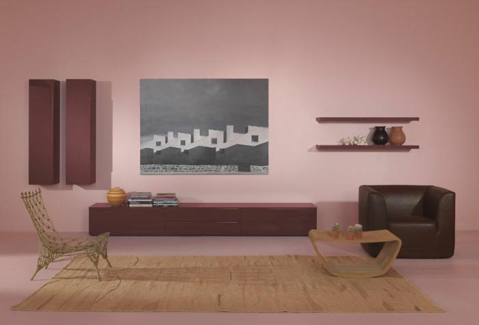 wandschrank-für-wohnzimmer-moderne-rosige-wand