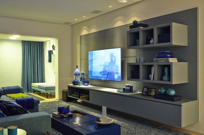 75 super modelle von wandschrank für wohnzimmer! - archzine.net - Moderne Schranke Fur Wohnzimmer