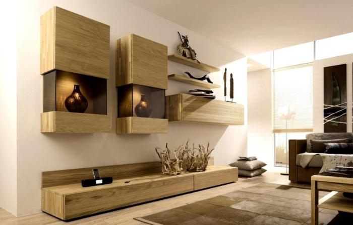 75 super modelle von wandschrank für wohnzimmer! - archzine, Wohnzimmer
