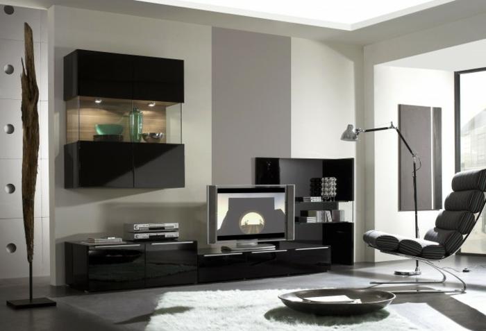 wandschrank-für-wohnzimmer-schwarze-möbel-modernes-aussehen