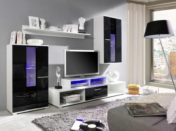 Wohnzimmer wandschrank raum und m beldesign inspiration for Wohnzimmer wandschrank modern