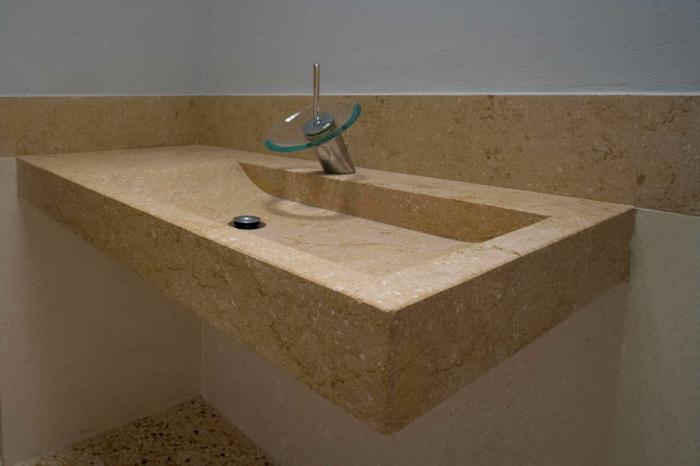 waschbecken stein aus einmalige gestaltung spule kuche