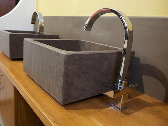 Waschbecken rechteckig stein  Badezimmer Waschbecken Stein: Naturstein waschbecken bestellen bei ...