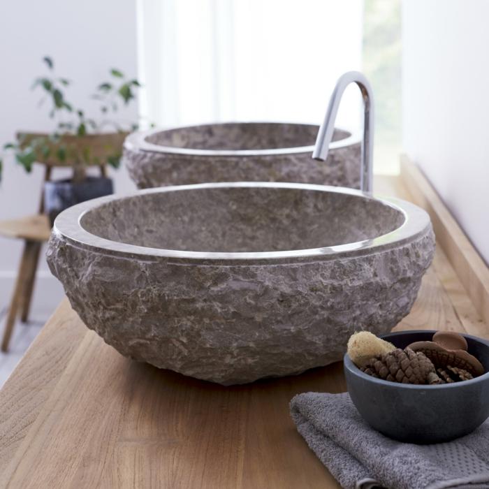 waschbecken aus stein einige tolle hingucker. Black Bedroom Furniture Sets. Home Design Ideas