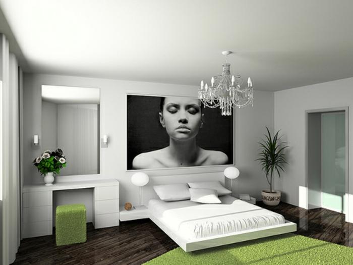 weiße-betten-grüner-teppich