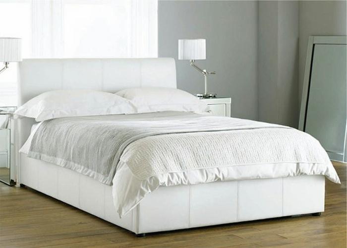 90 wundersch ne wei e betten. Black Bedroom Furniture Sets. Home Design Ideas