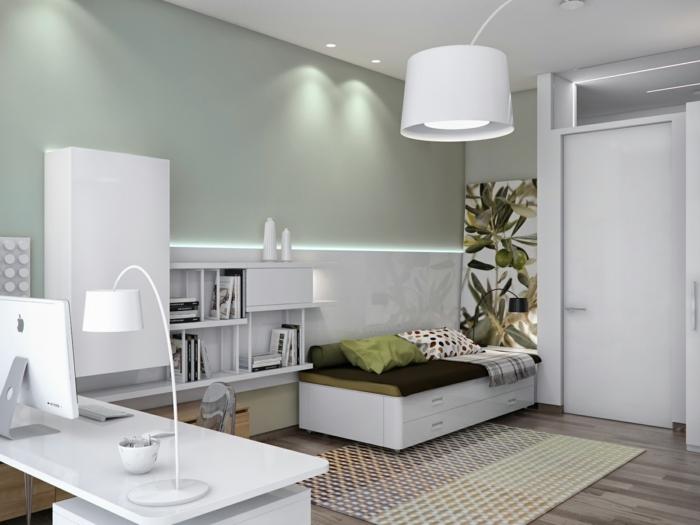 Arbeitszimmer modern einrichten  Büro und Gästezimmer kombinieren: Ideen für einen perfekten ...