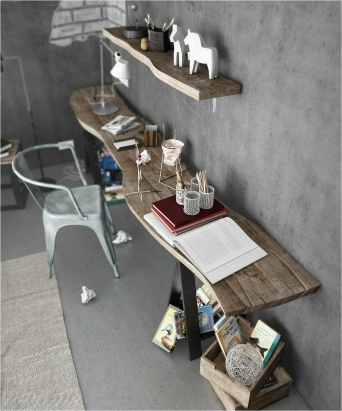 Büro-Arbeitszimmer-rustikale-industrielle-Einrichtung-Möbel-Landhausstil