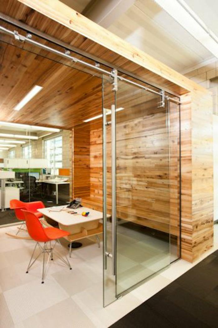 Büro-Glastür-modernes-Interieur-schick-elegant