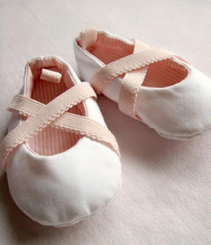 Balerrina-Kinder-Hausschuhe-Mädchen-bleiche-rosa-Farbe