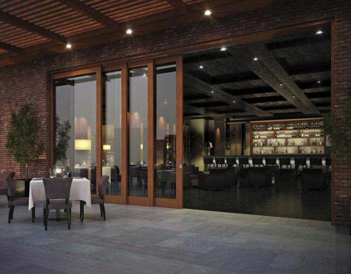 Bar-Glastüren-modernes-Interieur-kreative-Idee-räumlich-schick-elegant