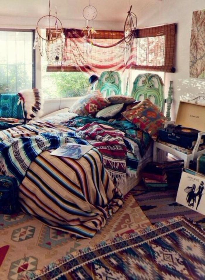 Boho-Chic-Schlafzimmer-Gestaltung-Traumfänger-Dekoration