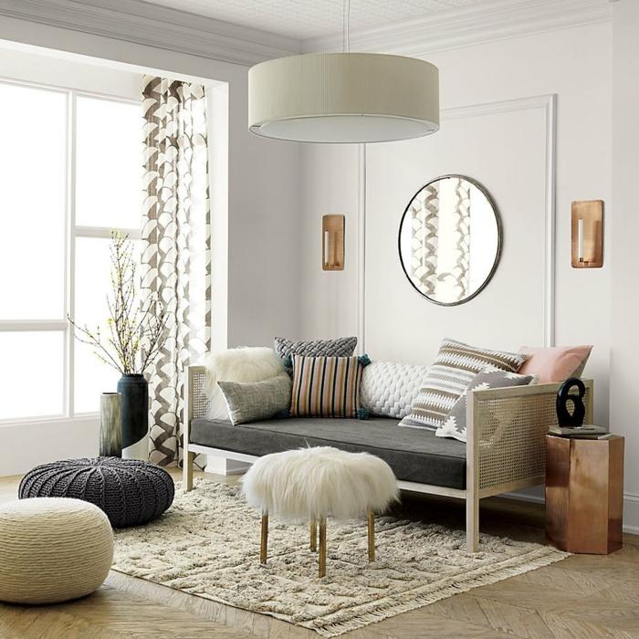Boho-Wohnzimmer-Gestaltung-dekorative-Kissen