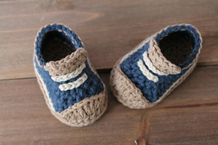 Crochet-Baby-Schuhe-Jungen-Pastellfarben-Kinder-Hausschuhe