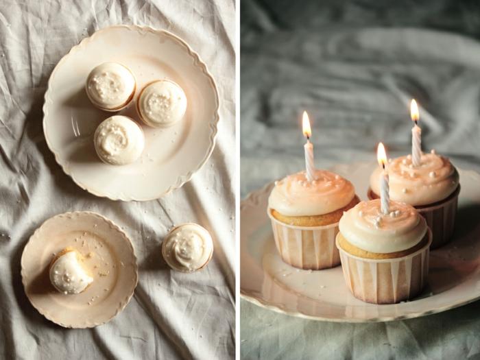 Cupcakes-Vanille-Kerzen-Geburtstagsidee