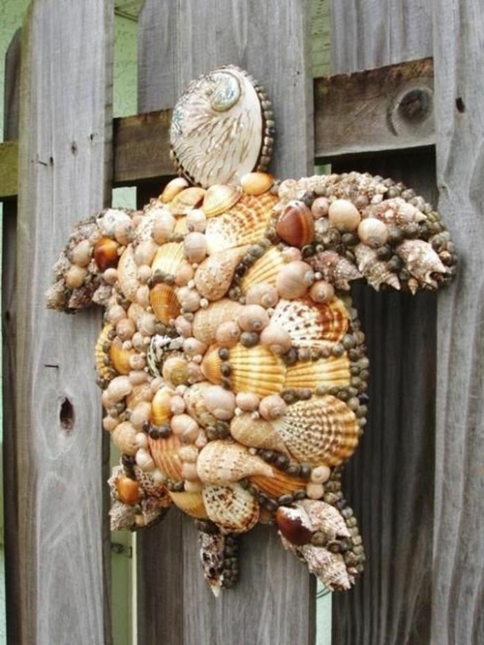 Dekoration-Schildkröte-Muscheln-kreative-Idee