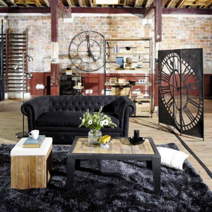 Designer-Wanduhren-feines-Wohnzimmer-Design