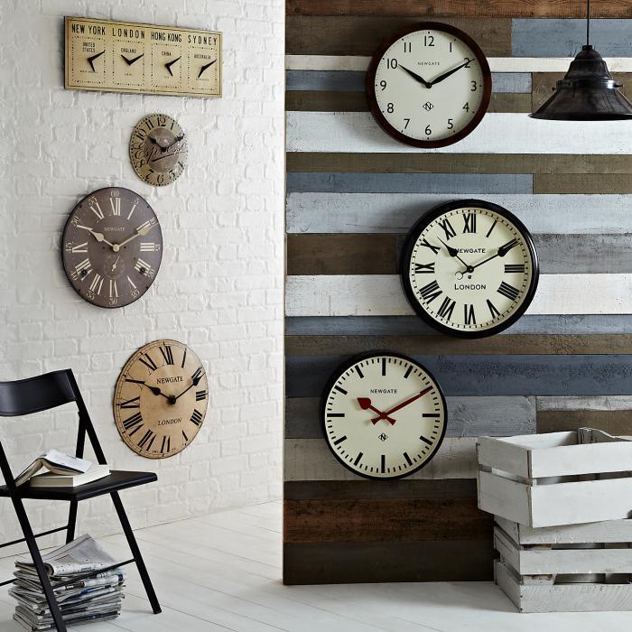 Designer-Wanduhren-modernes-Interieur