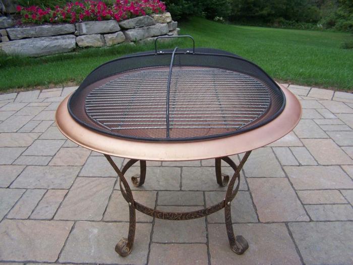 interessante varianten f r feuerschale mit grill. Black Bedroom Furniture Sets. Home Design Ideas