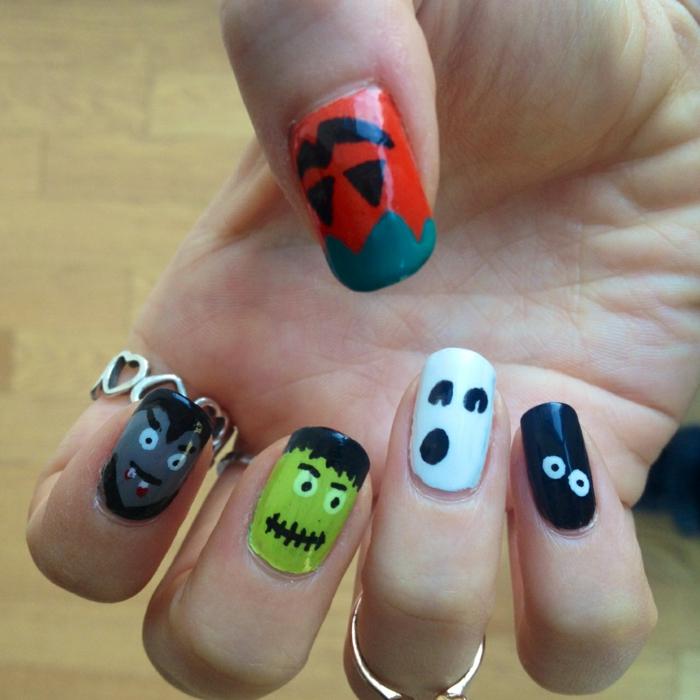 Halloween-Ideen-für-Maniküre-halloween-monster-und-kreaturen