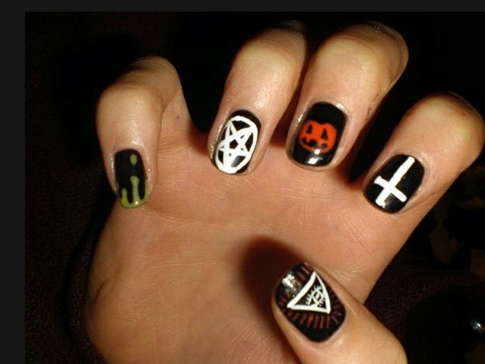 Halloween-Ideen-für-Maniküre-kreaturen-und-nagel-designs
