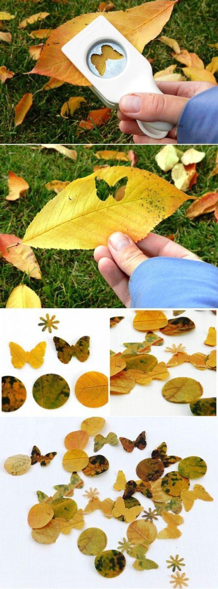 Herbstbasteln-mit-Kindern-geschnitten-schmetterling-motiven