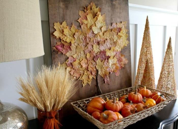 Herbstbasteln-mit-Kindern-kleine-Kürbis