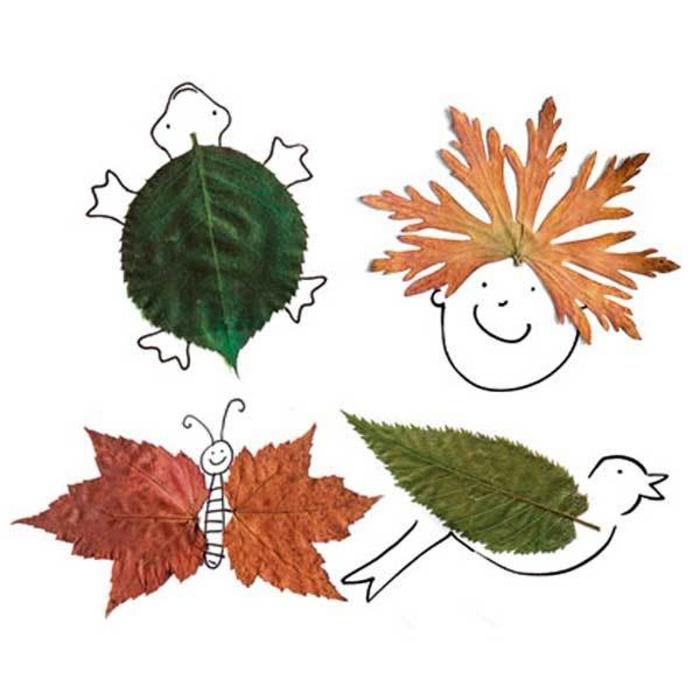 Herbstbasteln-mit-Kindern-schmetterling-Vogel
