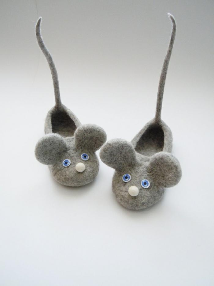 Kinder-Hausschuhe-Mäuser-süßes-Modell