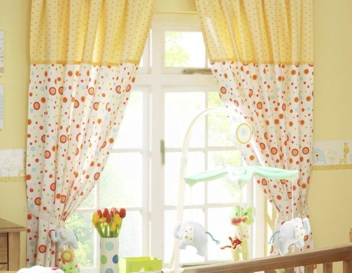 Kinder gardinen-für-kinderzimmer-in-gelb