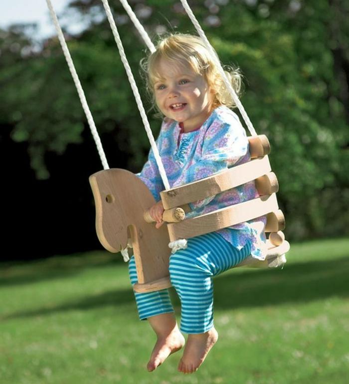 Kinder schaukel-für-Kleinkind-aus-Holz