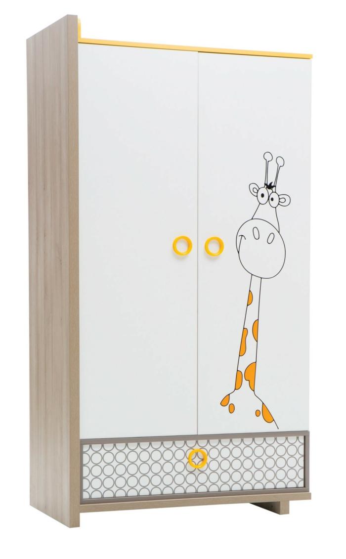 Kinderzimmer-Schrank-Giraffe-Zeichnung-süß-lustig
