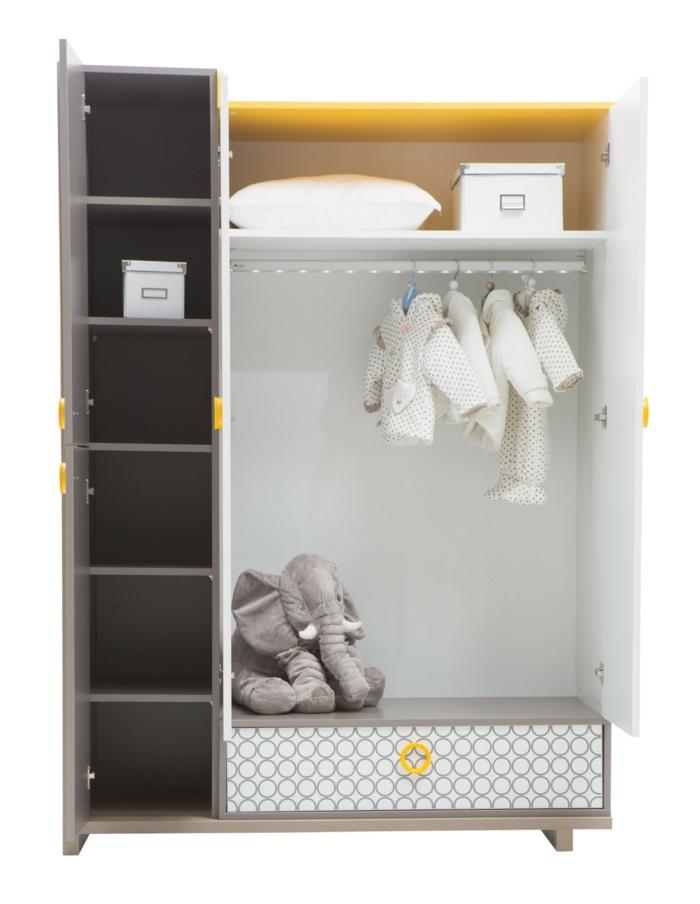 Kinderzimmer-Schrank-süße-Babyjacken-Elefant-Plüsch-Kissen-Kasten