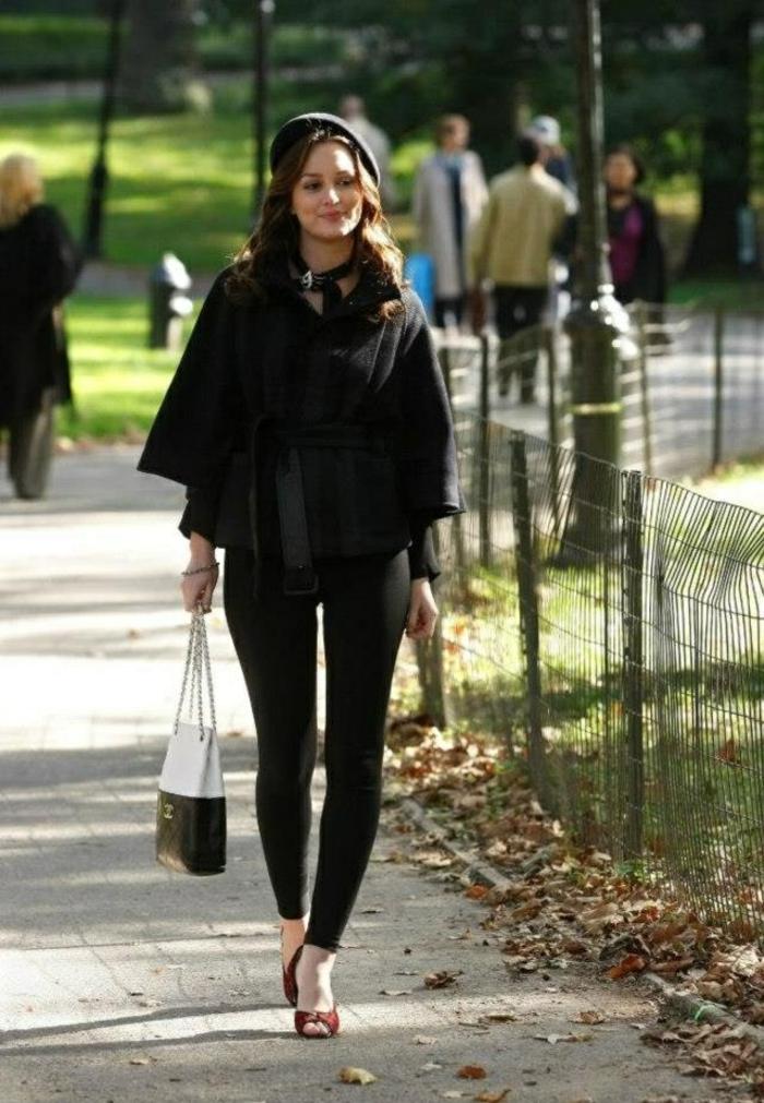 Leighton-Meester-berühmte-Schauspielerin-Gossip-girl-französischer-hut-Mütze