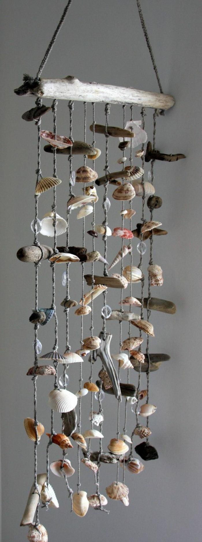 Muscheln-Deko-hängendes-Windspiel-süß-sommerlich-kreativ