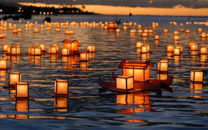 See-japanische-Laternen-exotisch-Ritual-asiatisch