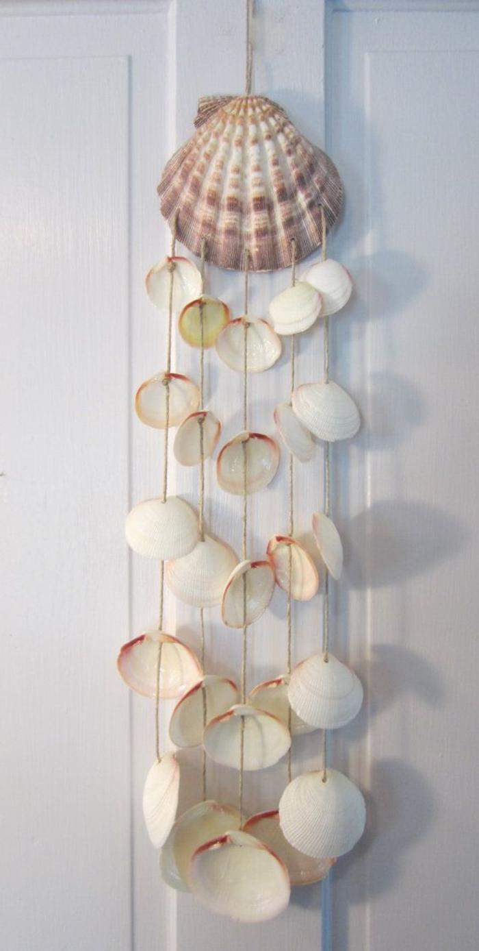 Tür-Dekoration-hängende-Muscheln-schön-romantisch