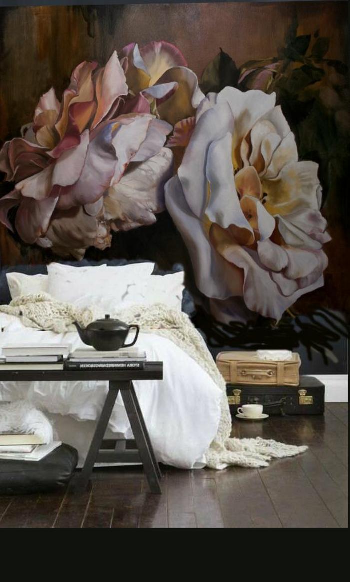 Romantische Tapeten F?r Schlafzimmer : Vintage Tapeten f?r eine romantische Atmosph?re