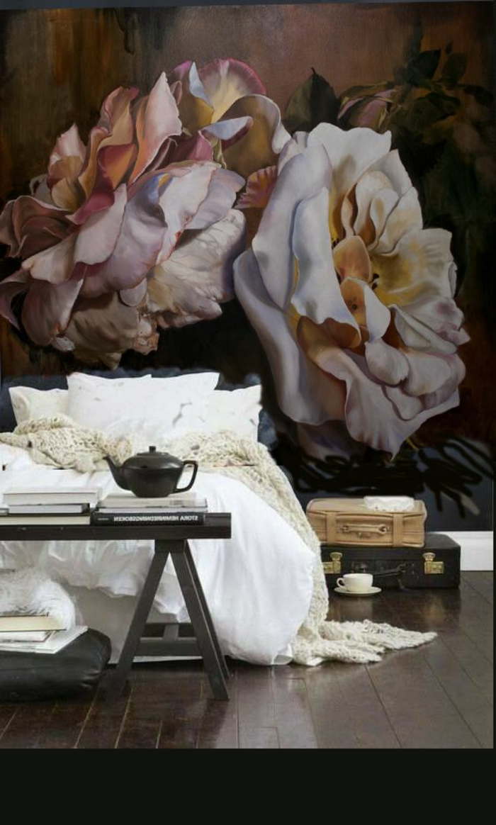 Tapeten-romantisches-Muster-Rosen