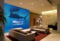 Unterwasserwelt Wandgestaltung im Wohnzimmer