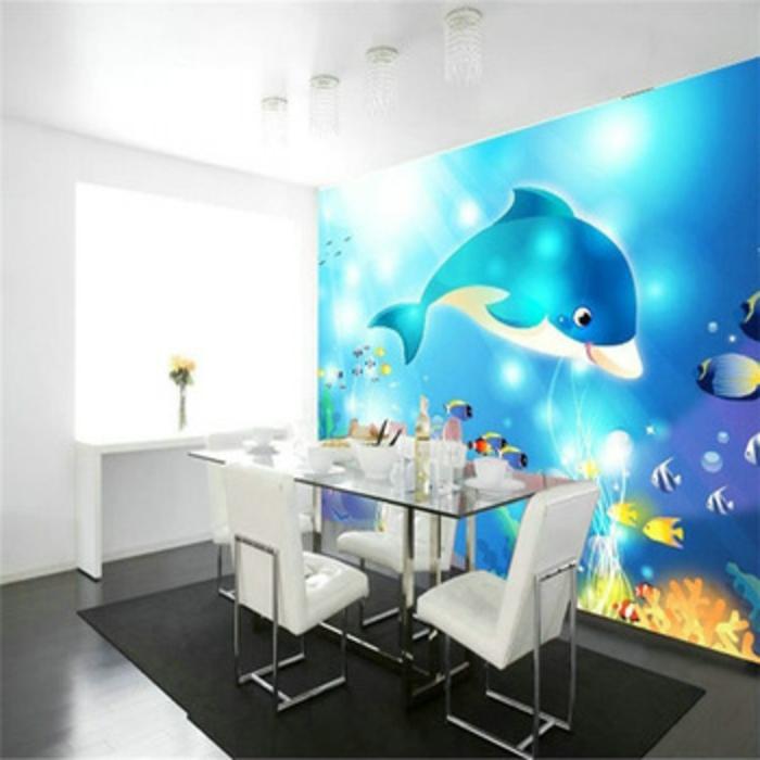 Wandgestaltung-Wohnzimmer-essecke