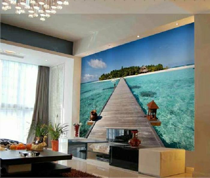 Wandgestaltung-Wohnzimmer-ferien-sicht