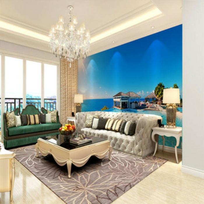 Wandgestaltung-Wohnzimmer-ferienort-Insel