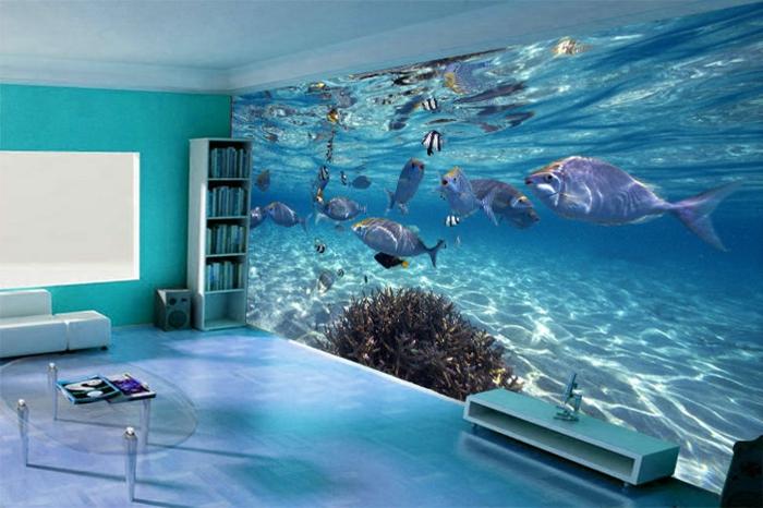 Wohnzimmer Blau Rot ? Elvenbride.com. Modernes Haus Wohnzimmer Rot ... Wandgestaltung Wohnzimmer Blau