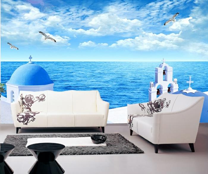 Wandgestaltung-Wohnzimmer-marin-weicher-teppich