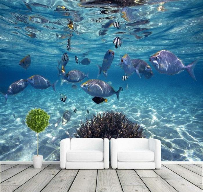 Wandgestaltung-Wohnzimmer-marine-auch-sessel